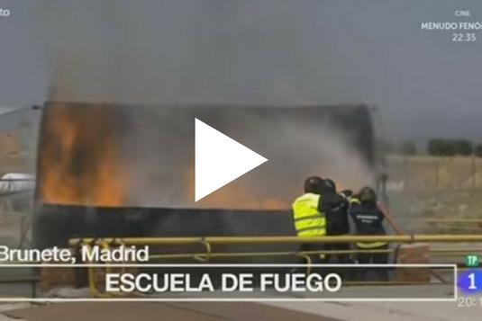 Clip de la emisión del reportaje sobre la escuela de fuego en España Directo