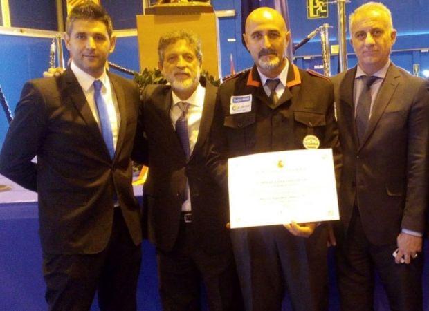 El vigilante de ILUNION Seguridad Miguel Ángel Codonal Gil recibe una mención honorífica tipo B