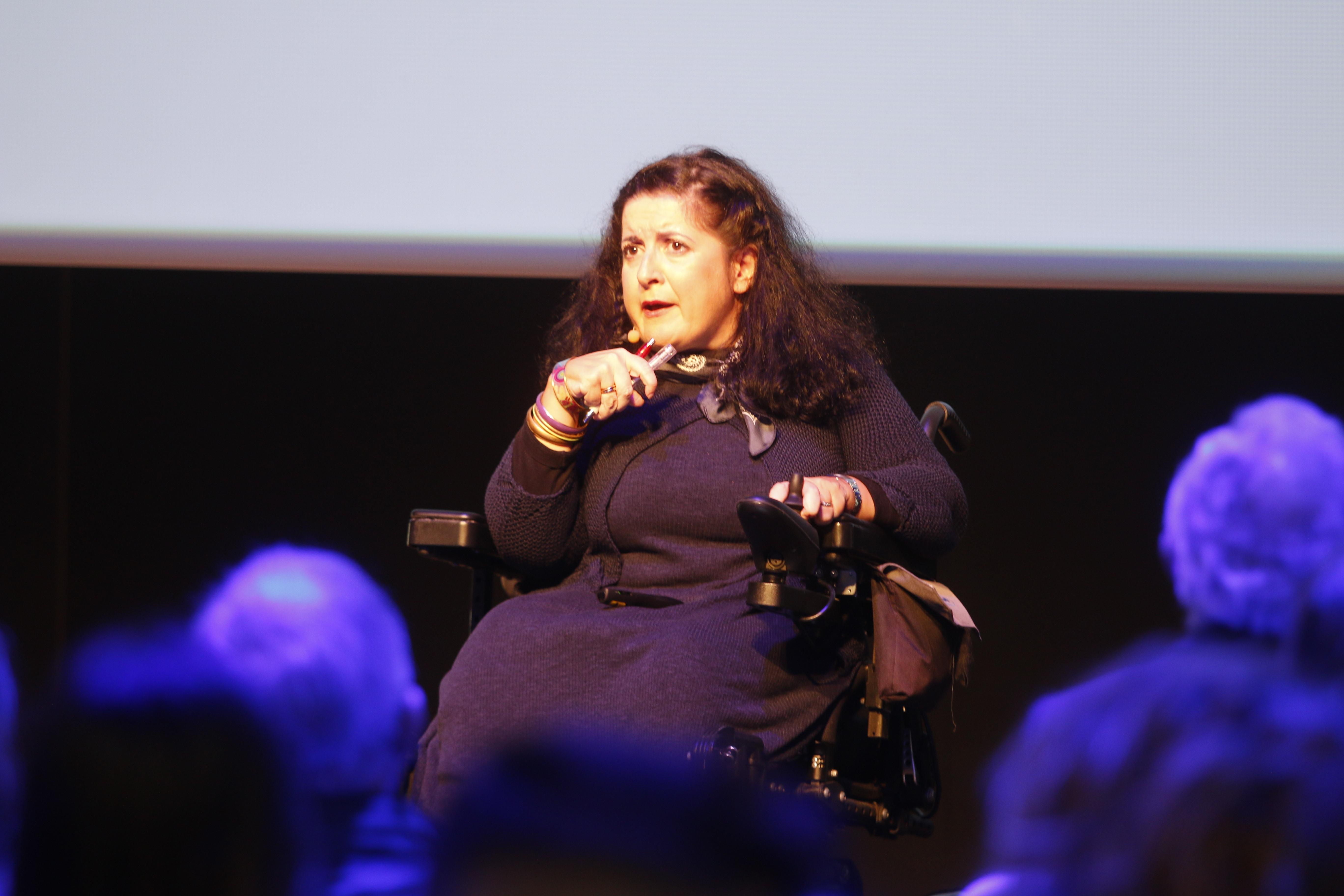 La técnico de ILUNION Noelia López durante su participación