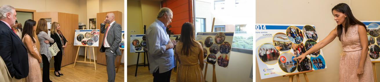Montaje de tres imágenes de los actos del aniversario, en una de ellas aparece el presentador Bertín Osborne
