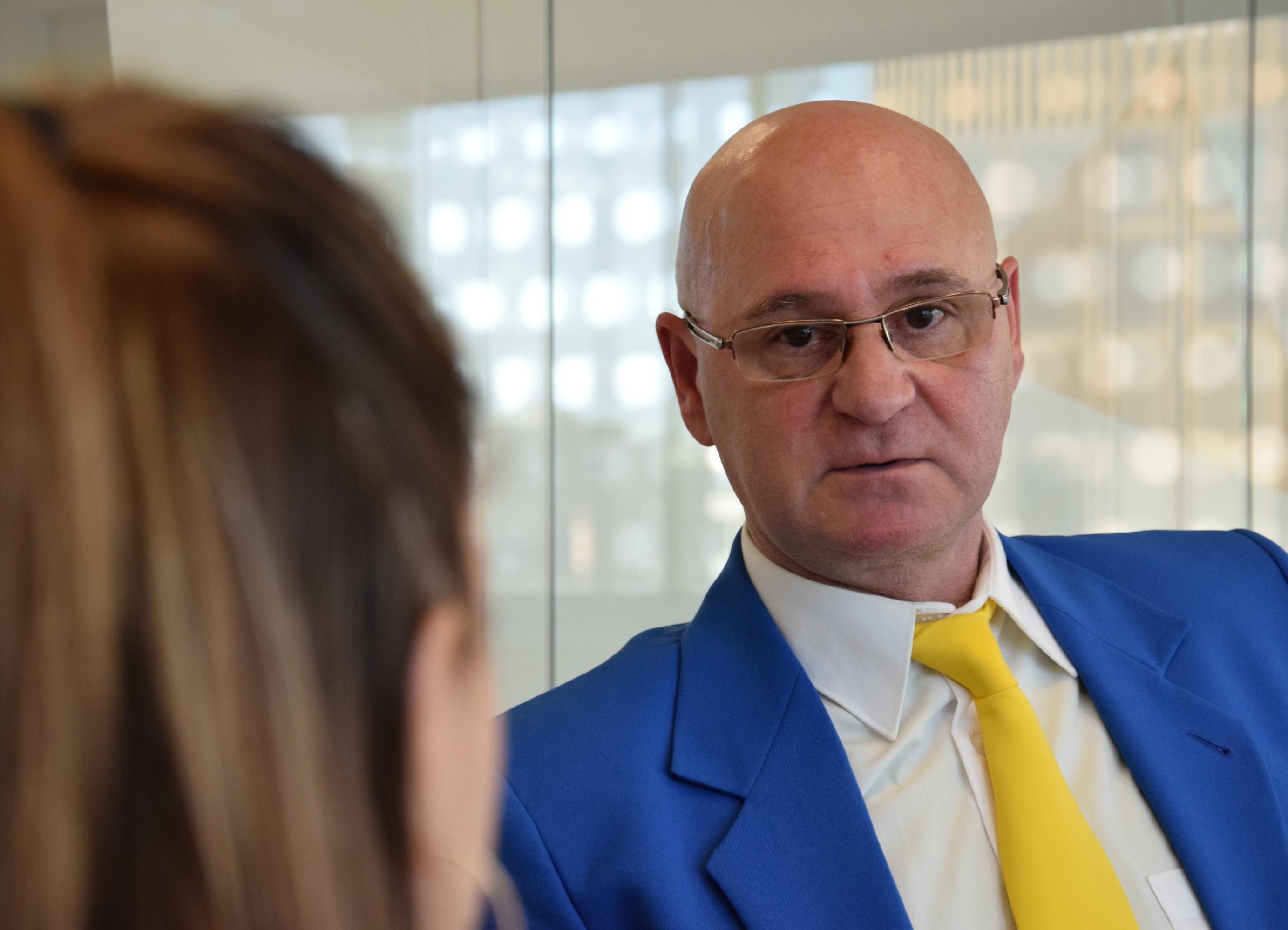 Juan Carlos Serradilla en un momento de la entrevista