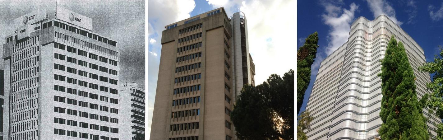 Collage de fotos en los que se muestra la torre en todo su esplendor