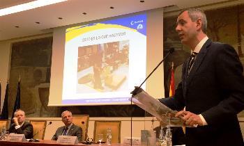 David Sanz durante un momento de su ponencia en la jornada 'Agenda Digital Industrial'