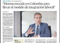 Imagen de la entrevista a Alejandro Oñoro en El Economista