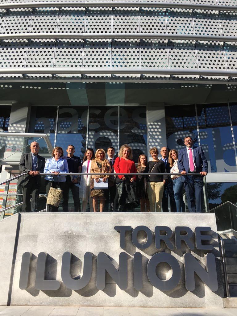Visita del Instituto Regional de Seguridad y Salud en el trabajo a Torre ILUNION